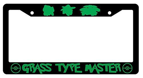 (GSF Frames Bulbasaur, Ivysaur, Venusaur Grass Type Master Black Plastic License Plate Frame Pokemon -31 )