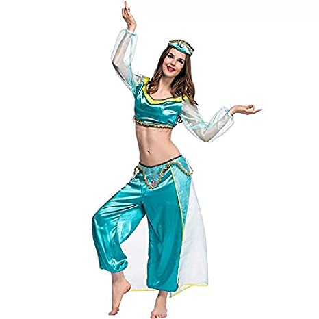 Traje de jazmín Damas Princesa árabe - Conjunto de Disfraces ...