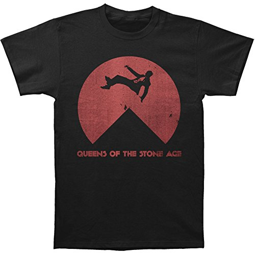 Queens Of The Stone Age Men's Near Death Slim Fit T-shirt Large Black (Transfer Music From Ipod To Iphone 5)