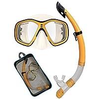 Amphibian AMPHIBIAN PRO RESORT SET (MASKE + ŞNOKEL + ÇANTA) Maske+şnorkel Set Unisex, renkli, Tek Beden