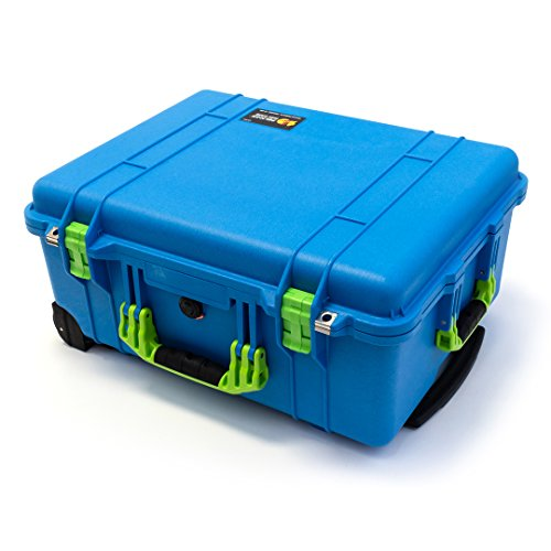Pelican 1560 Blue & Lime Green Case NO foam - empty. by Pelican