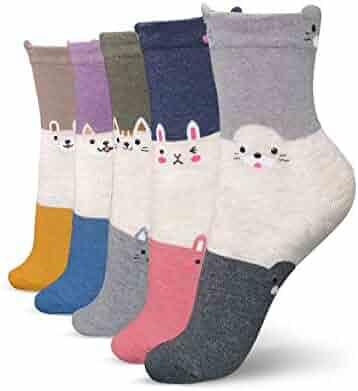 1649bcfedc335 Speum Cute Socks For Women,Yoga Novelty Crew Socks,Dress Socks with Knit  Cotton