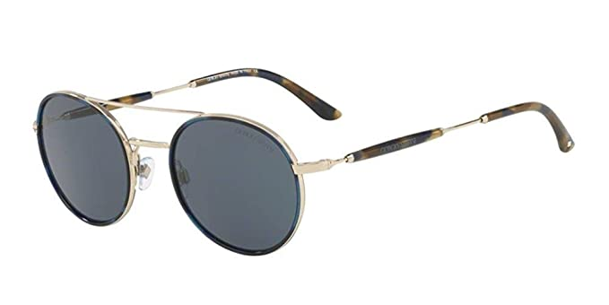 6bb7d7f8921 Image Unavailable. Image not available for. Color  Giorgio Armani AR 6056J  Sunglasses - (301387)Blue Havana Pale ...