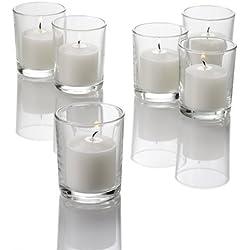 Set of 72 Richland Votive Candles and 72 Eastland Votive Holders