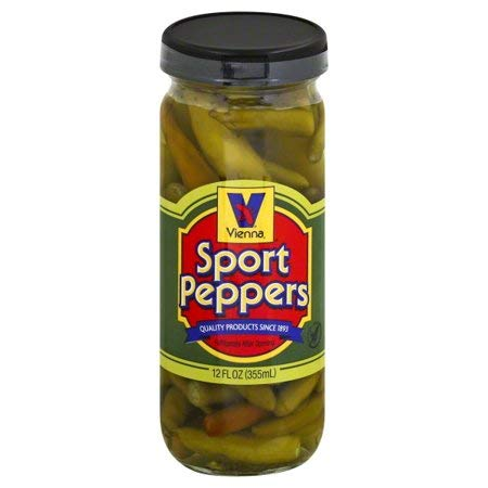 - VIENNA ® SPORT PEPPERS, 12 OZ, FOR CHICAGO DOGS