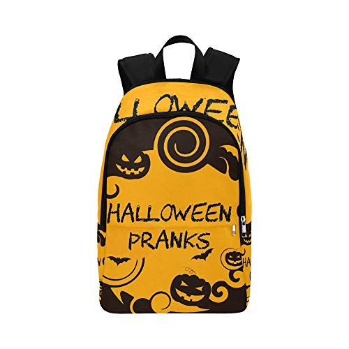 (YSWPNA Halloween Pranks Showing Trick Treat Joker Casual Daypack Travel Bag College School Backpack for Mens and)