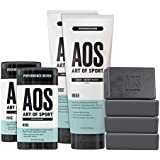 Art of Sport Athlete Collection, Rise Scent, 8pc Skin and Body Care Set with Deodorant, Hair Body Wash, and Body Bar Soap