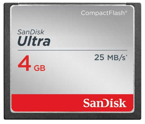 SanDisk Ultra 4GB Compact Flash Memory Card Speed Up To 25MB/s, Frustration-Free Packaging- SDCFHS-004G-AFFP  (Label May Change) (8 Gig Cf Memory Card compare prices)