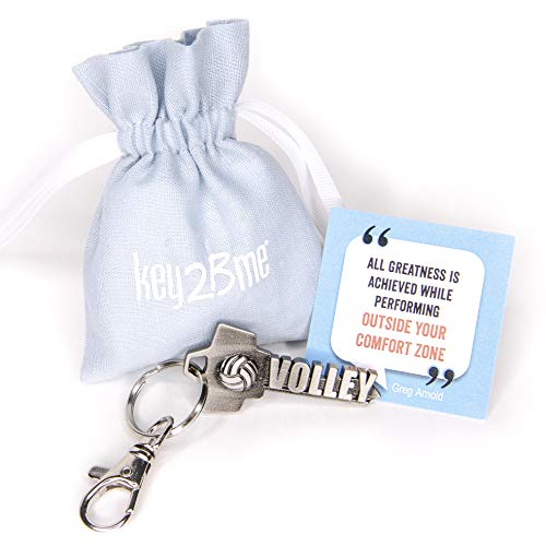 key2Bme VOLLEYBALL key - keychain & inspirational quote - the cool fun unique small sports team gift under $10 for giving kids teens teenagers friends girls boys women men him -
