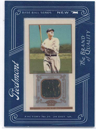 Yankee Framed Mini - 2009 Topps 206 Mini Framed Relics Piedmont #FR25 Babe Ruth - New York Yankees MLB Baseball Card (Memorabilia/Game Used) NM-MT