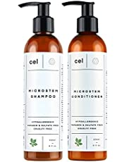 Cel Microstem Natural Hair Thickening Shampoo & Conditioner Set – Stem Cell Anti Thinning Shampoo – Professional Grade Biotin – Sulphate & Paraben Free - Suitable for Men and Women