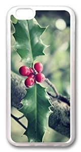 Christmas leaves Custom Case For Iphone 5/5S Cover PC Transparent