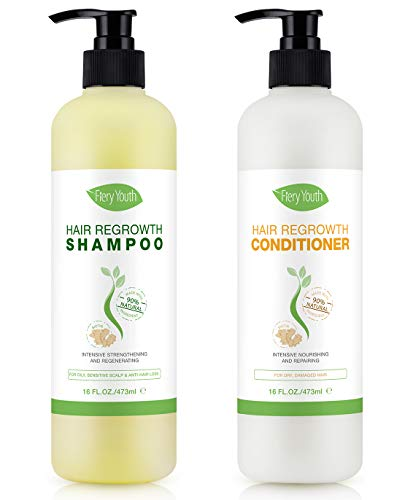 Hair Growth Shampoo & Conditioner Set - Hair Regrowth (2x16 Fl Oz/473ml) - Treatment for Hair Loss, Thinning Hair & Hair Growth, Sulfate Free (Shampoo&Conditioner Set)