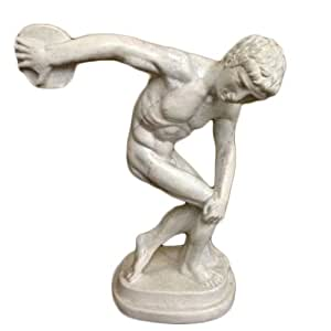 Amazon.com: Discus Thrower Statue with Stone Finish ...