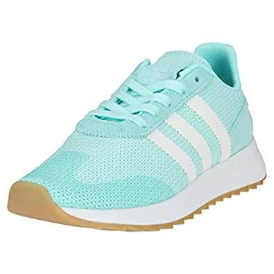 adidas FLB_Runner W Womens Fashion Trainers in Aqua White - 4.5 US M - 5.5 US W