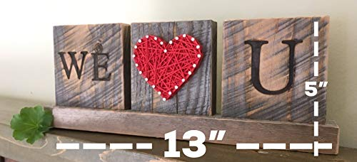 We Love you string art desk sign gift. Great from the kids by Nail it Art. We love you Dad gift. by Nail it Art (Image #1)