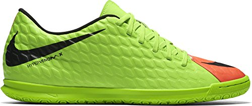 NIKE Hypervenomx Phade III IC Mens Indoor Competition Football Boots 852543 Soccer Cleats (UK 9 US 10 EU 44, Electric Green Black 308)