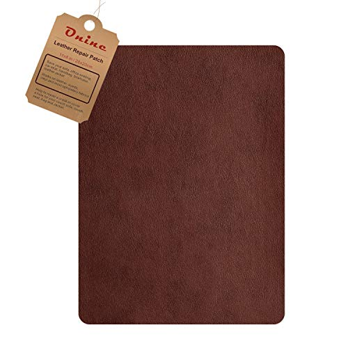 Leather Repair Patch,Self-Adhesive Couch Patch,Multicolor Available Anti Scratch Leather 8X11 Inch Peel and Stick for Sofas, car Seats Hand Bags Jackets (New Medium Brown) ()