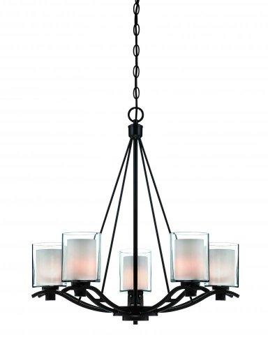 Artcraft Lighting Andover Five-Light Chandelier, Oil Rubbed Bronze