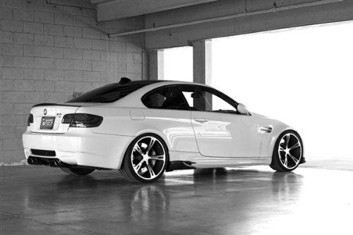 BMW E92 M3 Right Rear Black and White AC Schnitzer HD Poster Sports Car 48 X 32 Inch Print (Ac Schnitzer E92)