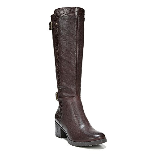 Naturalizer Womens Rozene Tall Boot,Oxford Brown Leather/Printed Croco,US 4.5 M