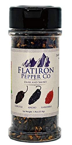 Flatiron Pepper Co, Dark and Smoky Premium Smoked Chile Flakes. Chipotle - Ancho - Habanero (Flatiron Co)