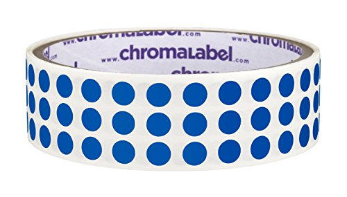 ChromaLabel 1/4 inch Color-Code Dot Labels   1,000/Roll (Dark Blue)