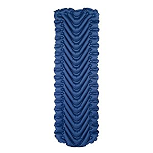 Klymit Static V Full Sized Lightweight Sleeping Pad Navy