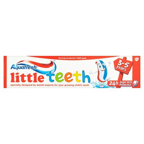Aquafresh Little Teeth Toothpaste 3-5 Years (50ml) - Pack of 2 (Uk Toothpaste)