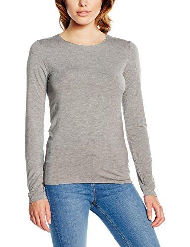 Tommy Hilfiger Jada C-Nk Top Ls, Parte Superior Deportiva para Mujer Gris (Medium Grey)