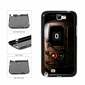 Personalized NYC Train Custom Letter O Plastic Phone Case Back Cover Samsung Galaxy Note II 2 N7100