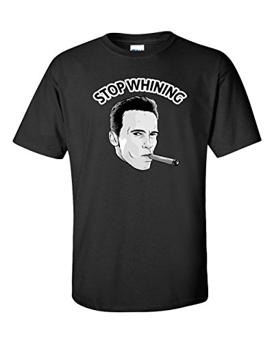 Ingenie.us Stop Whining Arnold Schwarzenegger T-Shirt Crossfit Men Women Bodybuilding Gym Workout Funny Witty Sarcastic Cigar