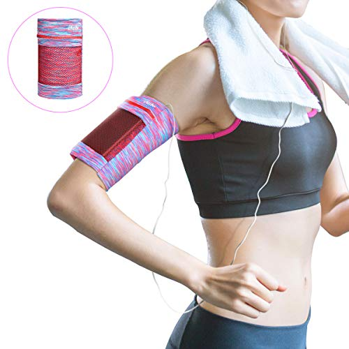 iNeibo Cellphone Armband, Running Phone Arm Band for Men Women for Exercise | 7 Inches Universal Sport Armband for iPhone XR XS X 8 7 6 Max Plus, Samsung, Huawei, -