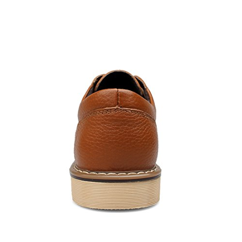 Minishion Boys Mens Lace-up Cap-Toe Outdoor Business Oxfords Brown WEhDg