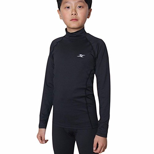 cb88b892dc995 Thermal Underwear Kids Boys Tops Base Layer Compression