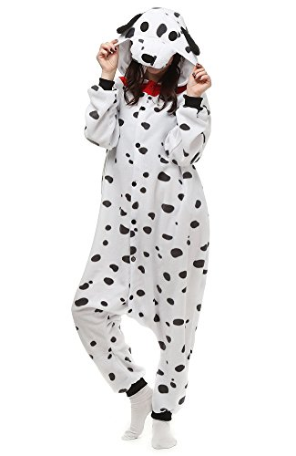 Laidisi Novelty Halloween Costumes Pyjamas Unisex Adult One-Pieces Cosplay Animal Jumpsuits (Large, Spotty -