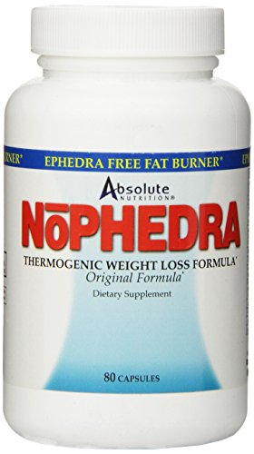 Absolute Nutrition Nophedra Capsules,  80 Count Bottle