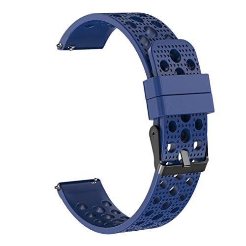 Kanzd Silicone Bracelet Strap Watch Band for Samsung Gear S3 Frontier Classic 22mm (Blue)