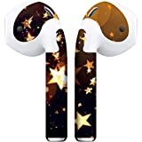 APSkins 2 Piece Printed Skins Wrap. Compatible with Apple Airpods (Stars)