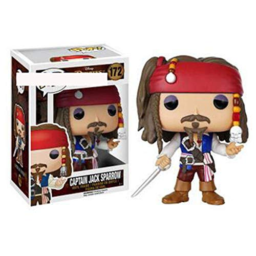 Bobblehead POP Piratas del Caribe Dead Men Tell No Tales- capitan Jack/Weltner/Elizabeth Swann/Salazar decoracion del coche (Color E)