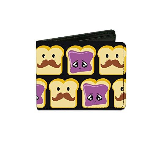 (Peanut Butter w/ Mustache & Jelly - Bi-Fold Wallet)