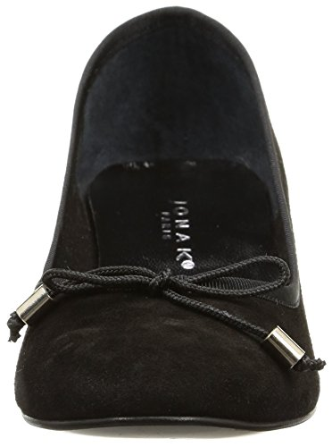 Ville Jonak Noir Velours Chaussures Noir de Femme 1SOnw4