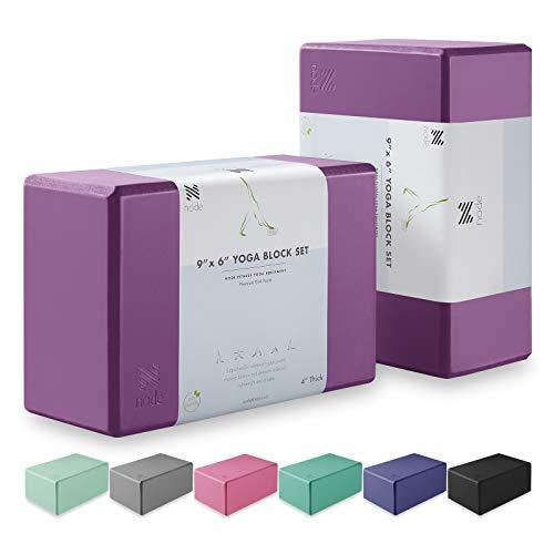 Node Fitness (Set of 2) Latex-Free EVA Foam Yoga Blocks