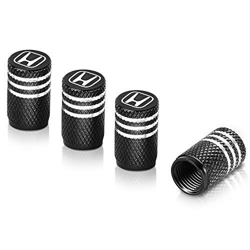 Qideloon Tire Valve Caps,Aluminum Valve Stem Caps Compatible with Honda Accessories Car,Trucks,Motorbike 4pcs