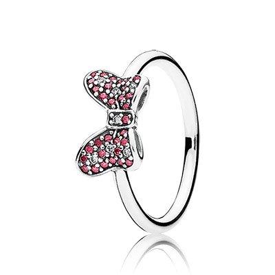 Pandora 190956czr Minnie's Sparkling Bow Disney Ring Sz (7) (Pandora Bow Charm)