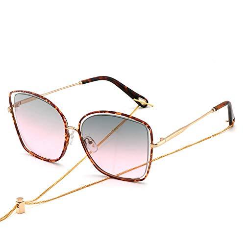 tiran de color la caja grandes NIFG de gafas de UL Gafas del que de la gradiente la de sol protección sol xxvZOYwq8