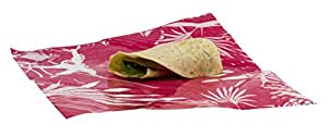 WRAPEAT REUSABLE LONGER LASTING FOOD WRAP PACK (Small Sub, Burrito, Tortilla size X3 multi pack). For lunch boxes, lunch bags, Food Safe, Non-Allergenic, Beeswax Free
