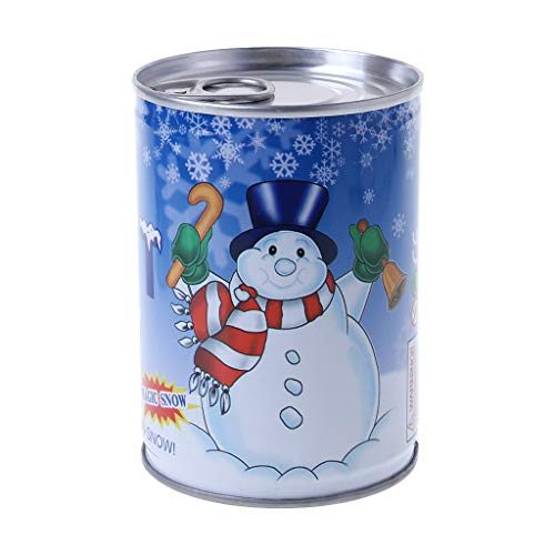 - RingBuu 2018 Christmas Latest, Instant Fluffy Man-Made Magic Artificial Snow Cans Christmas Decoration DIY Gift