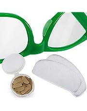 Setex Gecko Grip Ultra-Dunne 0,6 mm Anti-Slip Neus Pads voor brillen, USA Made, Micro-Structured Fibers, 0,6 mm x 7 mm x 16 mm