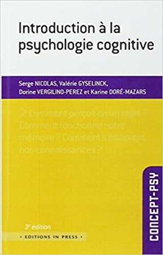 Télécharger en ligne Introduction à la psychologie cognitive epub pdf